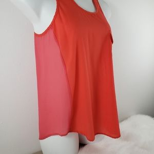 Sheer Sleeveless 2 Tone top